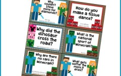 These minecraft jokes for kids are a fun printable to tuck somewhere your child will find them!