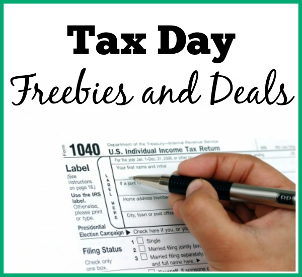 There are many reasons to celebrate Tax Day - including freebies and MORE!
