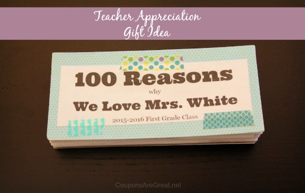 100 reasons teacher book