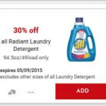 Save Big on all Radiant Laundry Detergent