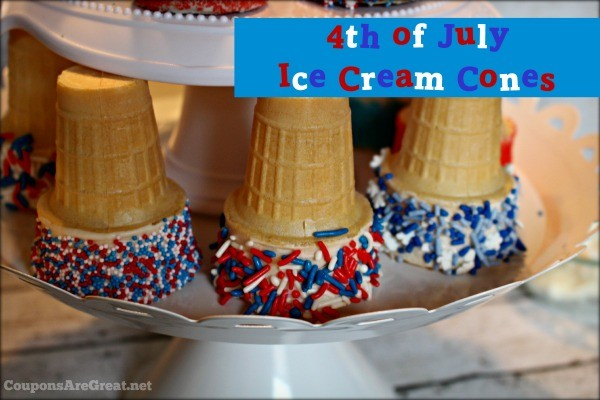 4th of July ice cream cones are a fun *and easy* cooking project for kids!