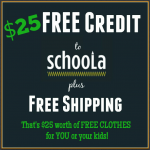 $25 Worth of Free Kids Clothing from Schoola