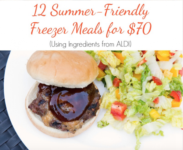 Make summer easy with these 12 summer-friendly freezer meals which will save you both time and money!