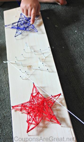 patriotic string art craft