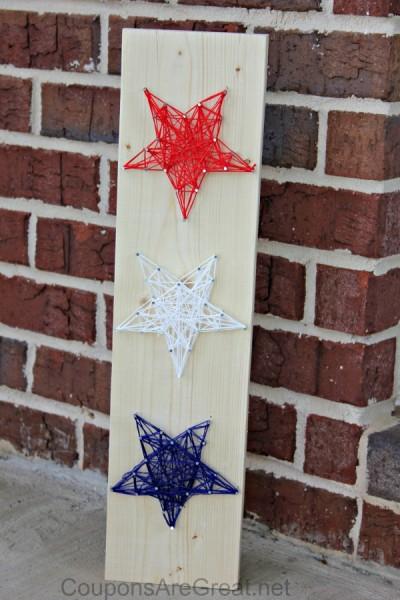 patriotic string stars craft