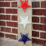 patriotic string stars stained