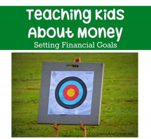 When teaching kids about money it is important to set financial goals. Teach your child to save and give them the power to make decisions themselves.