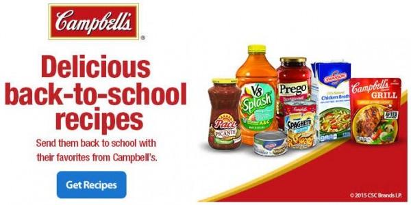 campbells back to school recipes