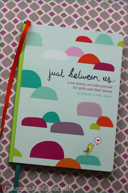 Sometimes you just want to talk to your daughter without interruption.  Use the just between us journal for heartfelt connections with your daughter!