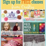 sign up for free classes from craftsy