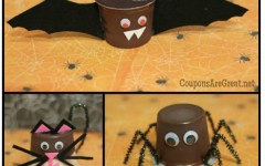 edible halloween craft pudding cup