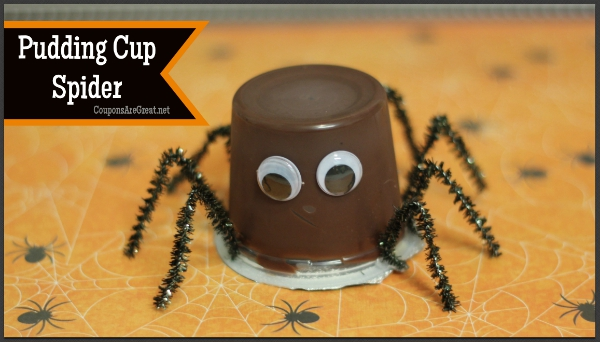 This pudding cup spider will delight kids when they open the refrigerator door. It's too cute to be spooky!