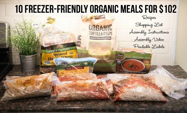 10 freezer friendly organic meal plans