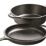 Pre-Seasoned Cast-Iron Combo Cooker, 3-Quart