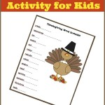 Keep Kids Busy in November: Thanksgiving Word Scramble