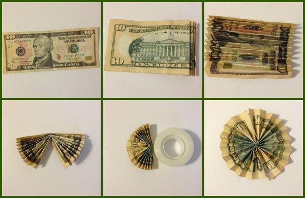 dollar flower paperwheel