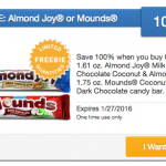 SavingStar Freebie Offer: Free Almond Joy or Mounds