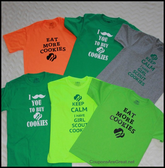 Girl Scout Cookies Shirts are the perfect thing to wear to your cookie booth.