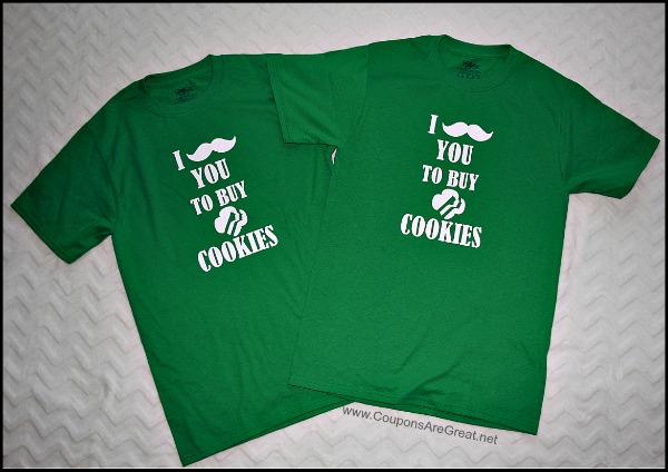 Girl Scouts - This mustache you to buy cookies shirt is a big hit at cookie booths and door to door selling!