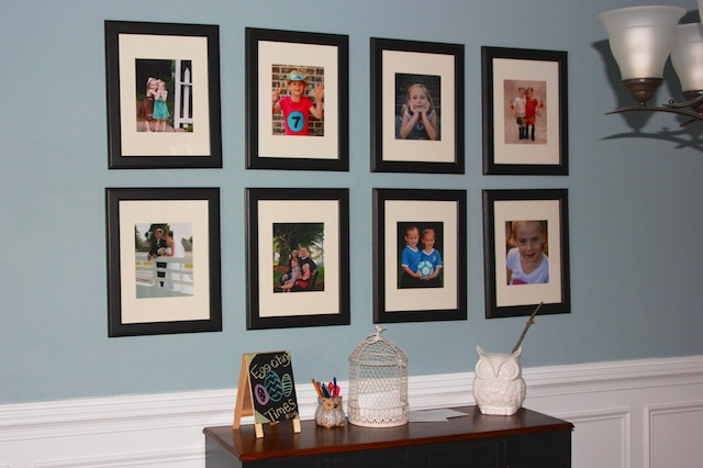 8x10 photo dining room wall