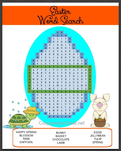 Use this printable Easter word search to keep your kids 'hoppy' this spring!