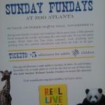 Zoo Atlanta Fun Days: November 14th