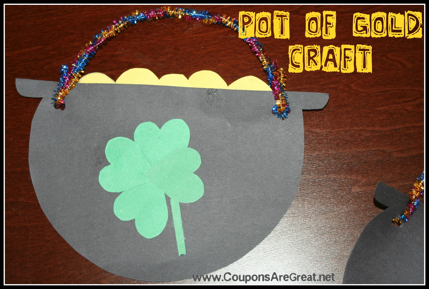 pot of gold craft st s day pot of gold craft 5249