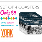 Set of 4 York Photo Coasters for $10.99 Shipped