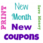 New Month, New Printable Coupons!