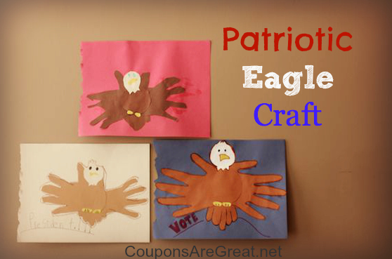 Patriotic eagle craft perfect educational activity for for Veterans day crafts for preschoolers