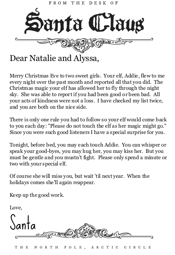 From The Desk Of Santa Claus Letterhead Perfect For An