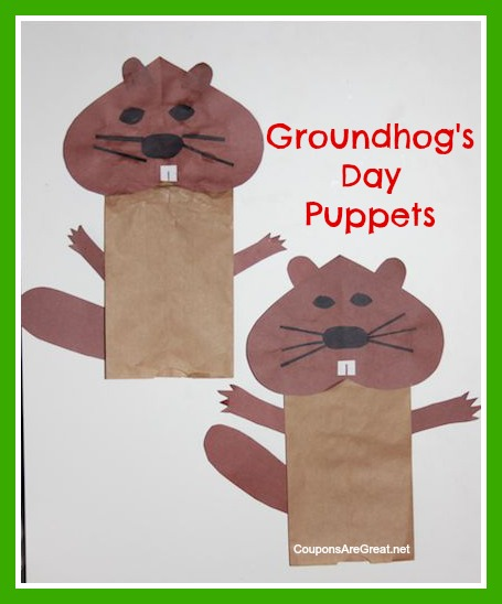 Groundhog Day Puppets