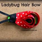 Ladybug Hair Bow Tutorial
