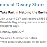 Disney Store Earth Day Freebie: Cars 2 or Brave Reusable Bag