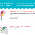Free Michaels Mother's Day Crafts: May 6 and May 7