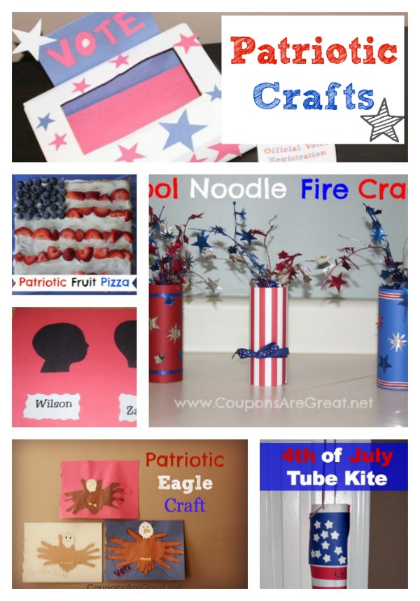 patriotic crafts for memorial day  4th of july  and veterans day