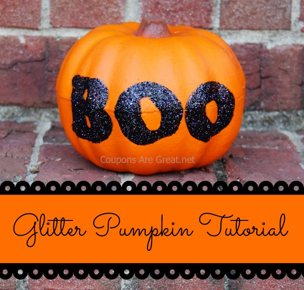 Glitter Pumpkin Tutorial Using a Dollar Tree Pumpkin and Elmer's Glue