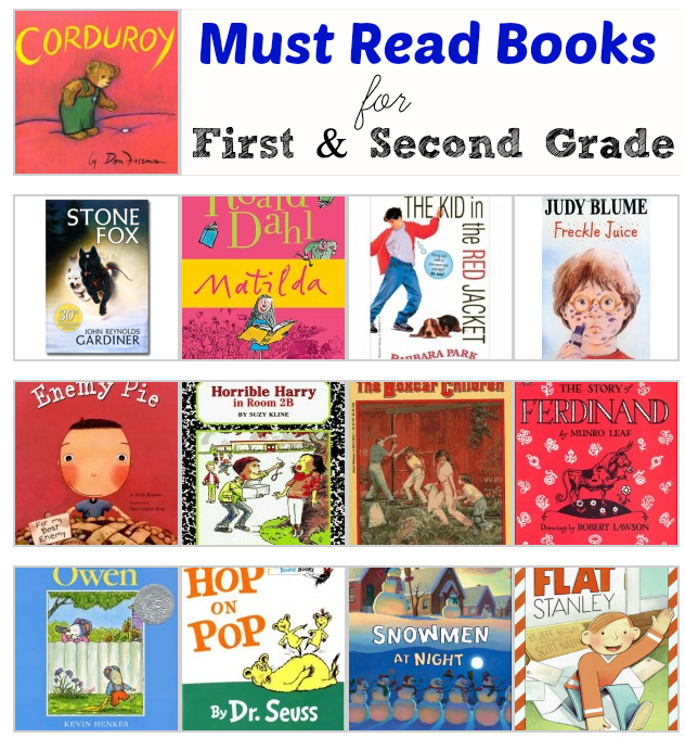 must read books first second grade - Kindergarten Reading Level Books