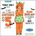 Old Navy Baby and Toddler Halloween Costumes: Only $5 Today Only