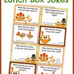 Thanksgiving Lunch Box Notes using Thanksgiving Jokes for Kids