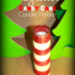 DIY Glitter Candy Cane Candle Craft Holder Using Dollar Store Supplies