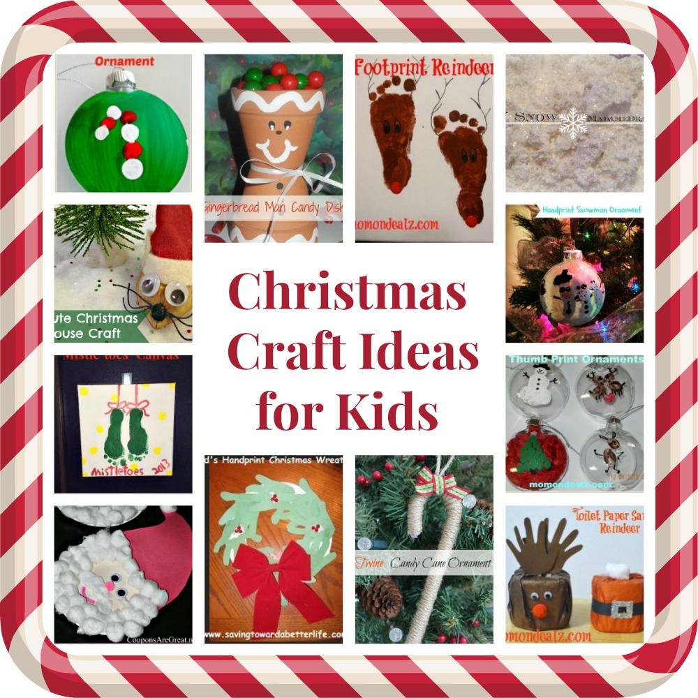 Christmas Crafts for Kids Round Up: Ornaments, Canvas ...