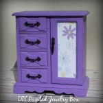 Thrift Store Jewelry Box Makeover: How to Make a Painted Jewelry Box