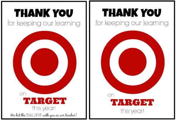 Target Gift Card Teacher Reciation From Cl