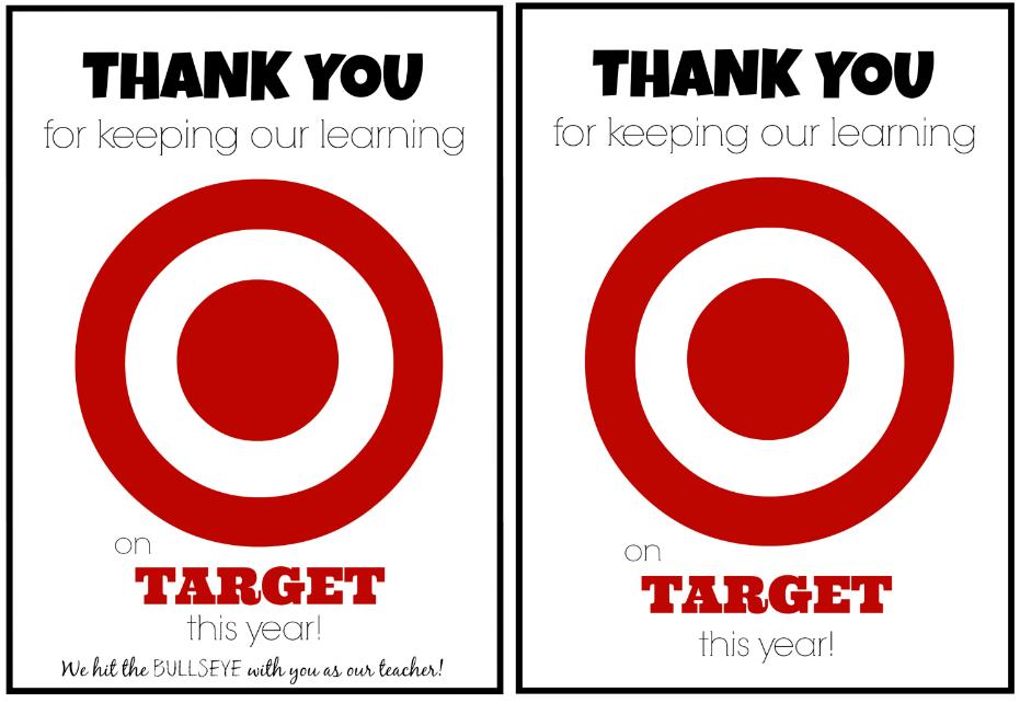 Teacher Appreciation Gift Idea: Target Gift Card Teacher Appreciation Printable