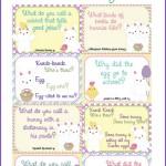 Printable Easter Lunch Box Notes Using Easter Jokes for Kids