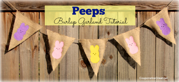 Peeps Craft: Peeps Garland Tutorial Using Burlap