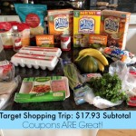 My Target Shopping Trip Using Coupons