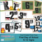 Back to School Printable: Free First Day of School Signs