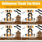 Printable Halloween Thank You Note: Perfect for Teacher Appreciation